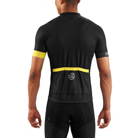 Skins Cycle Classic SS Jersey Men Full Zip black/citron